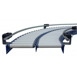 CONVOYEUR ROULEAUX PVC - TRS 20 COURBE