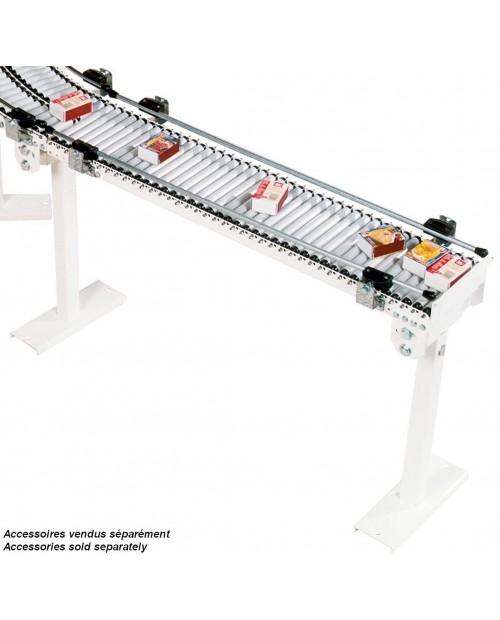 CONVOYEUR ROULEAUX PVC - TRS 20 DROIT