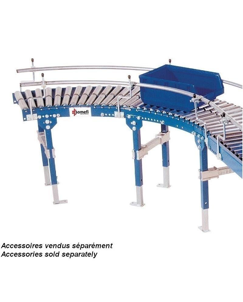 CONVOYEUR ROULEAUX PVC - TRS 50 COURBE